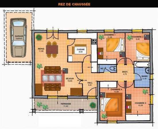 Mod le maison neuve mod le bruy re 88 ou 100 m maisons vertes construc - Combien coute une facade de maison ...